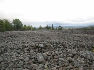 Slagg vid gruvan i Huså